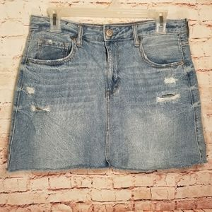 Aeropostale  | Distressed Jean Mini Skirt